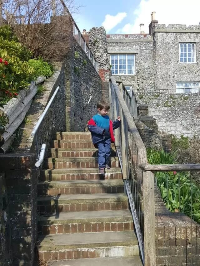steps at Lewes castle