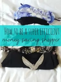 how to be an efficient shopper