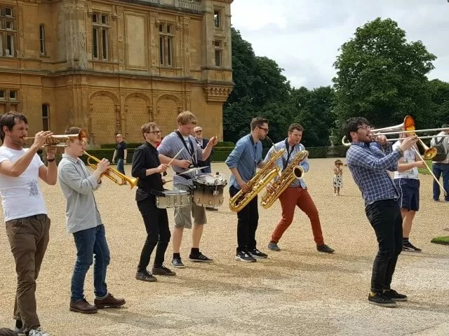 jamming jazz band at Feast festival Waddesdon