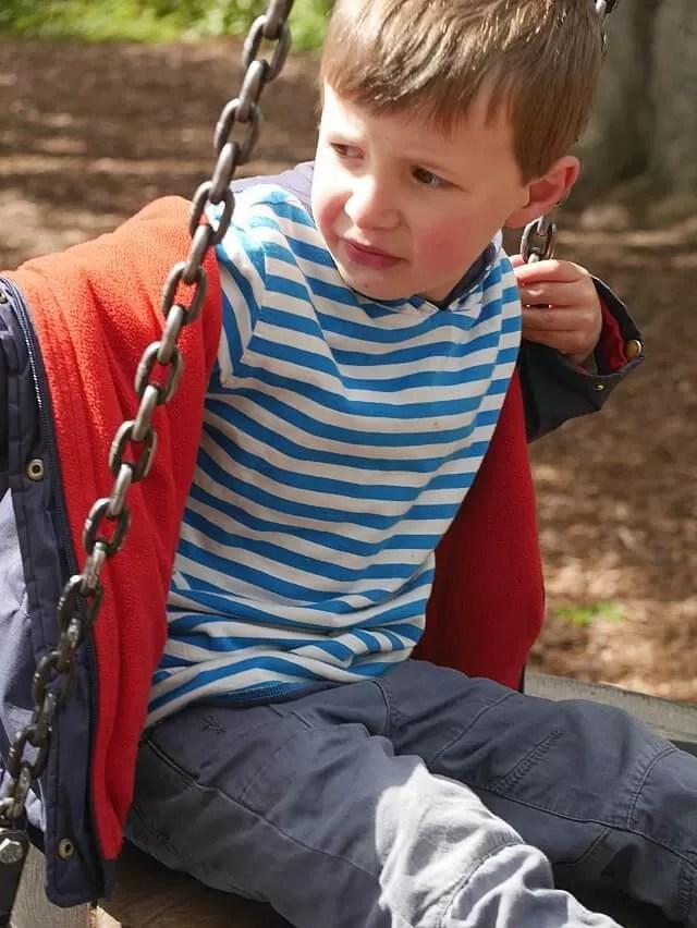 on the swings in Henley