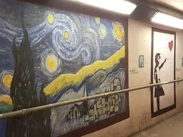 subway Van Gogh artwork in Stretford