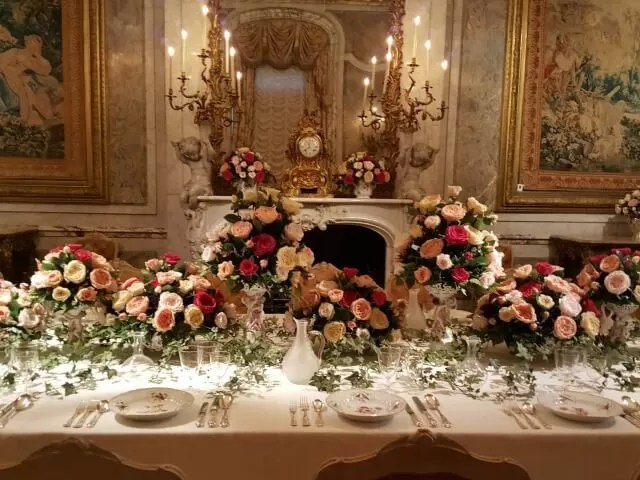 table setting at Waddesdon