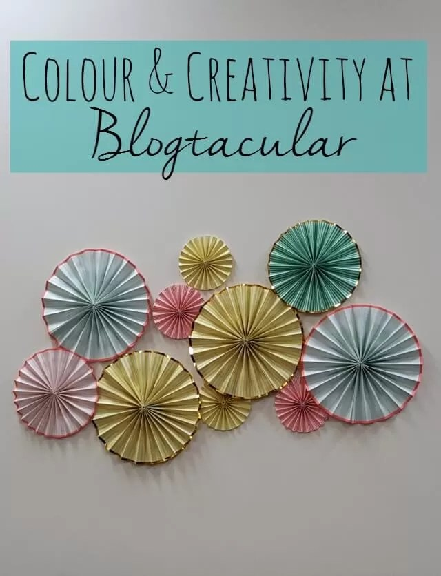 Colour and creativity at Blogtacular - Bubbablue and me