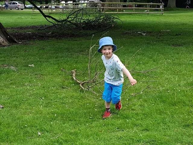Dragging a tree branch at Geronimo