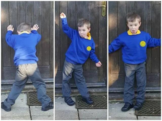 Starting school posing photos