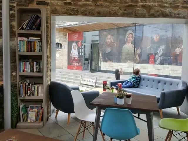 interior of castleyard cafe Oxford