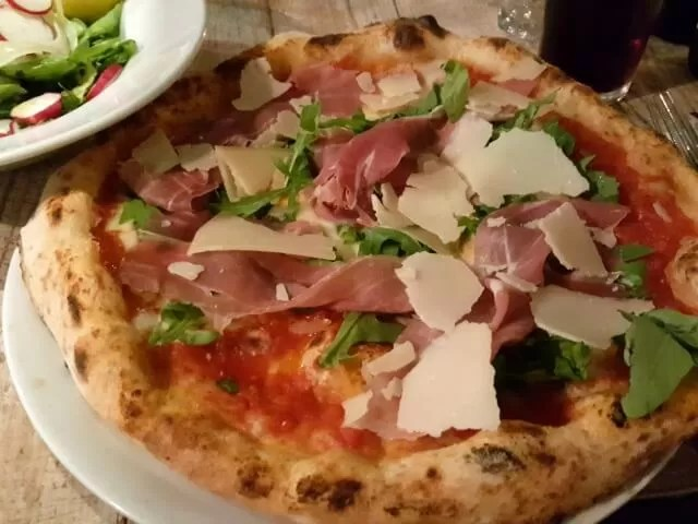 pizza at rosso pomodoro restaurant