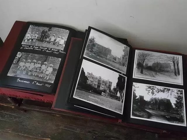 old photo albums at Chastleton House