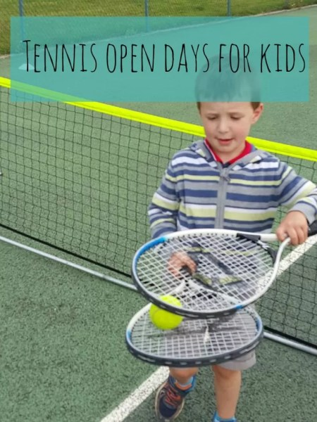tennis open day for kids - Bubbablue and me