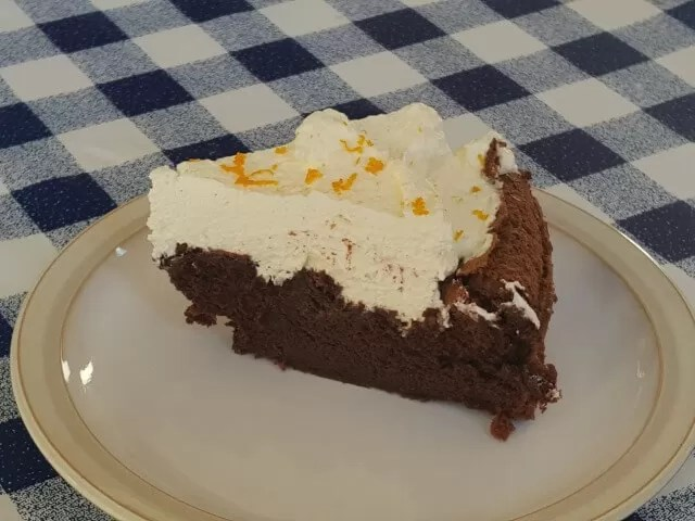 chocolate cloud cake slice