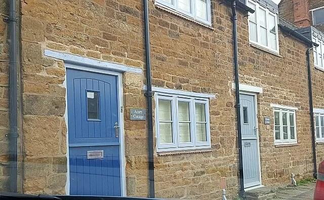 coloured cottage doors