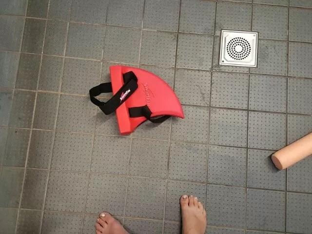 swim fin ready for swimming