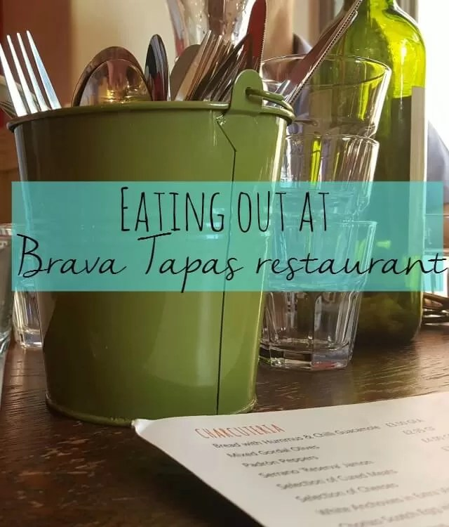 eating out at brava tapas restaurant- Bubbablue and me