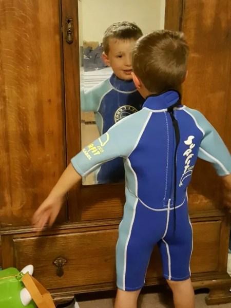 kids shortie wetsuit