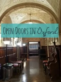 open doors oxford