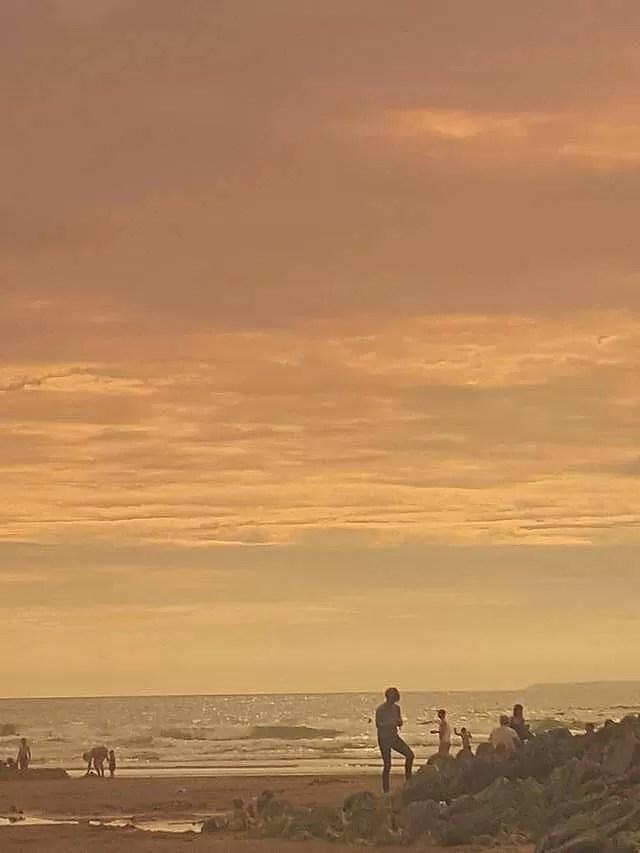 beach view through sunglasses