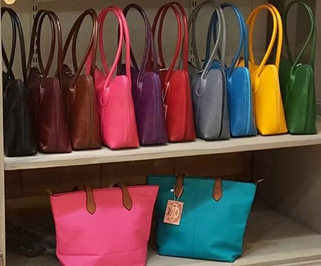 coloured handbags