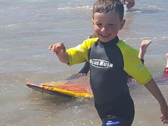 fun in the sea at Woolacombe