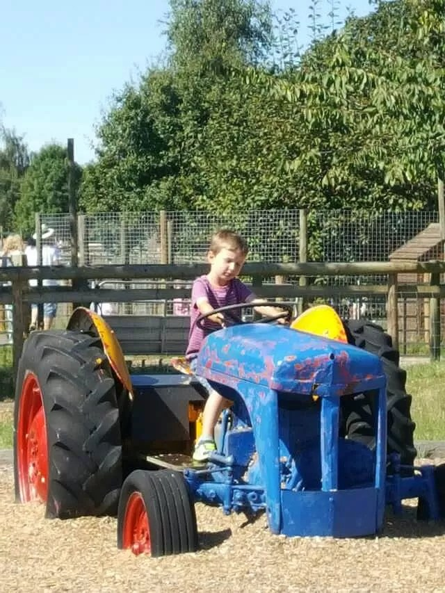 on-the-tractor