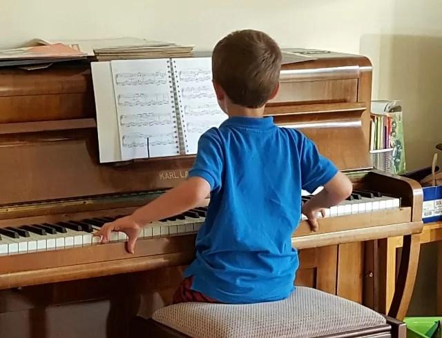 playing the piano - my sunday photo