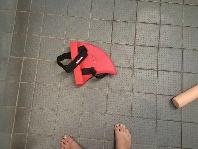 swim fin at the pool