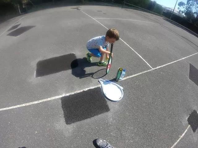 playing tennis at meron hotel