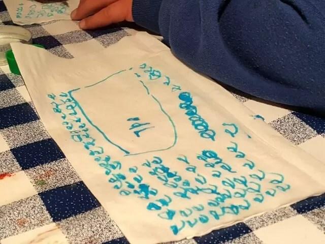 practising handwriting