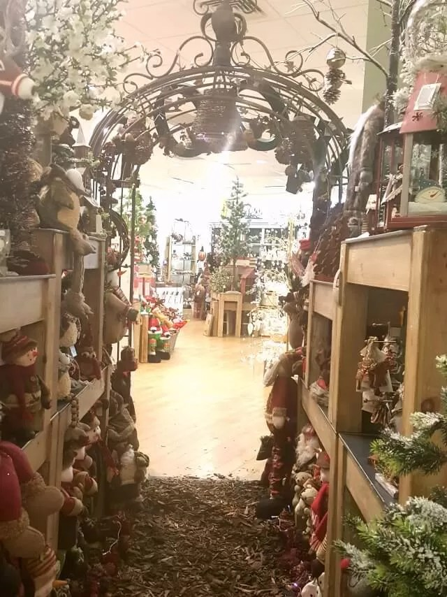 Christmas displays in town