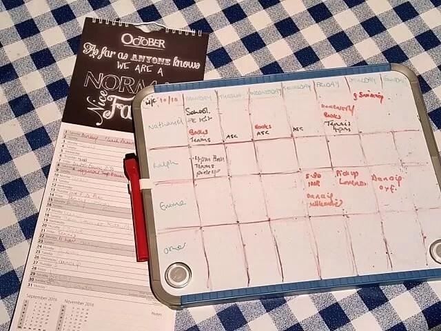 offline family calendar system