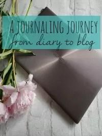 journaling diary to blog