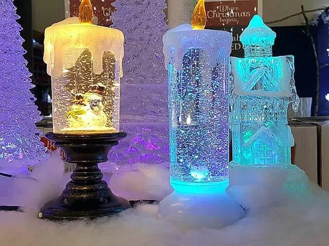fake glittering candles
