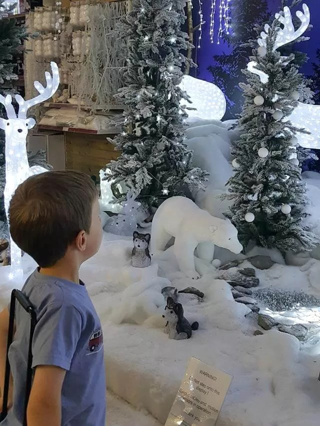 outdoor snow decorations at millets
