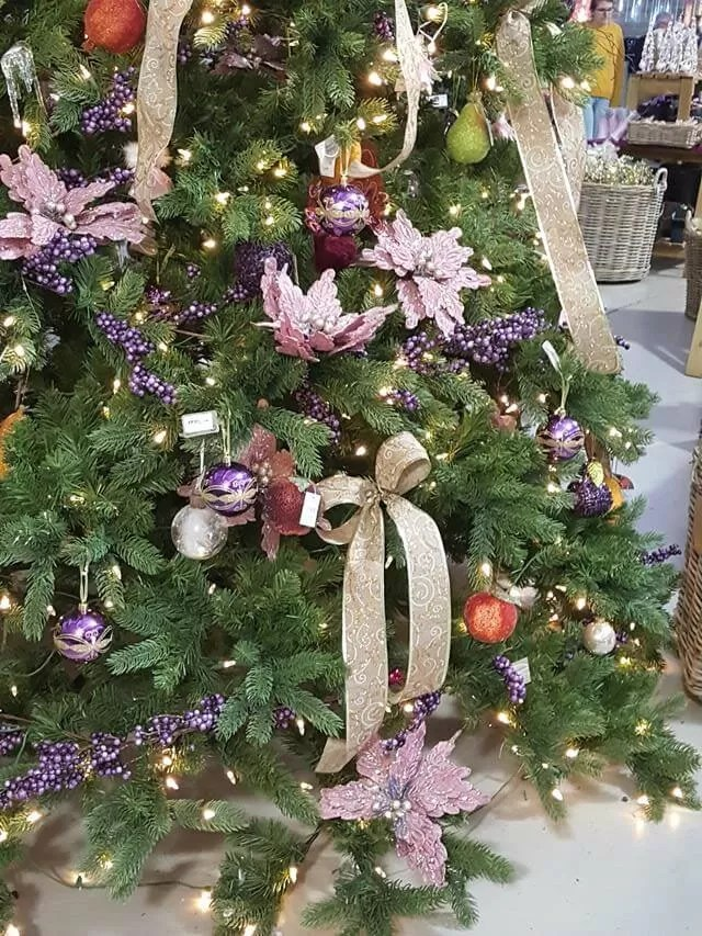 pastel pink and gold tree at millets farm