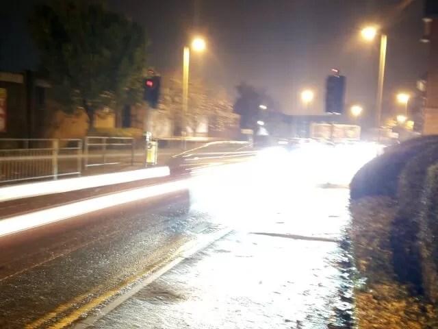 long shutter speed car lights
