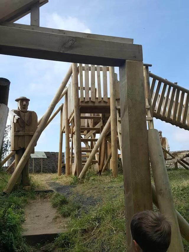 wooden-playground-at-mont-orgueil-castle