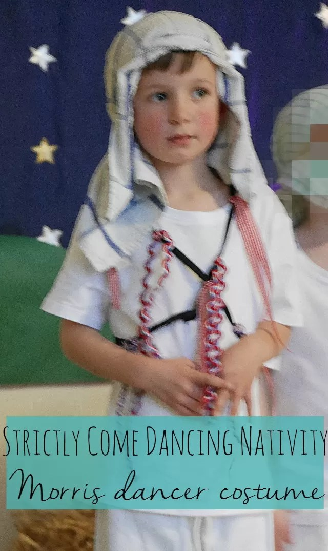 Strictly come dancing nativity play and a morris dancer costume - Bubbablue and me