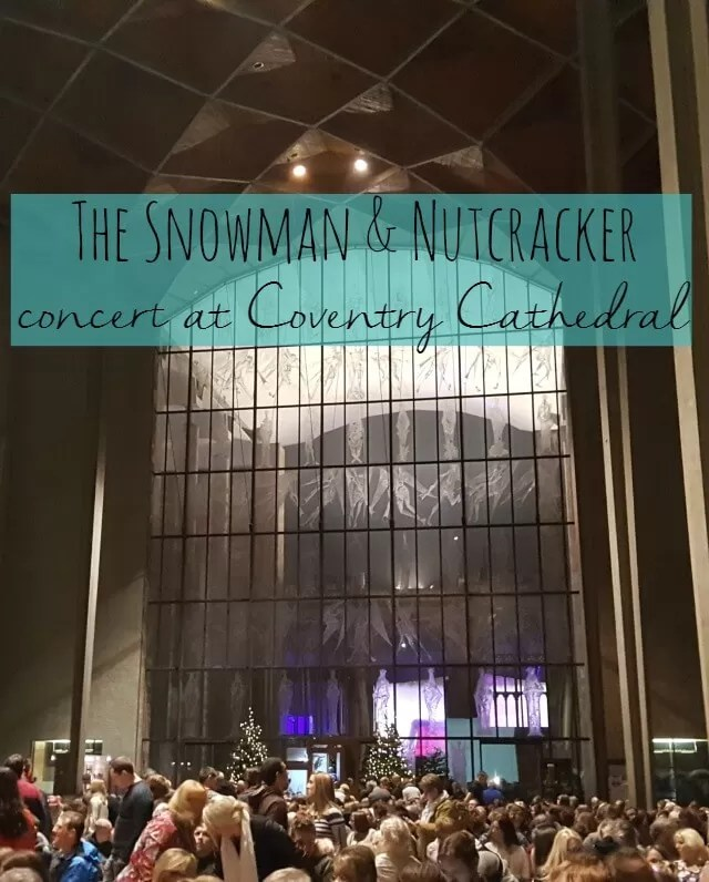 The snowman and nutcracker concert at Coventry Cathedral - Bubbablue and me