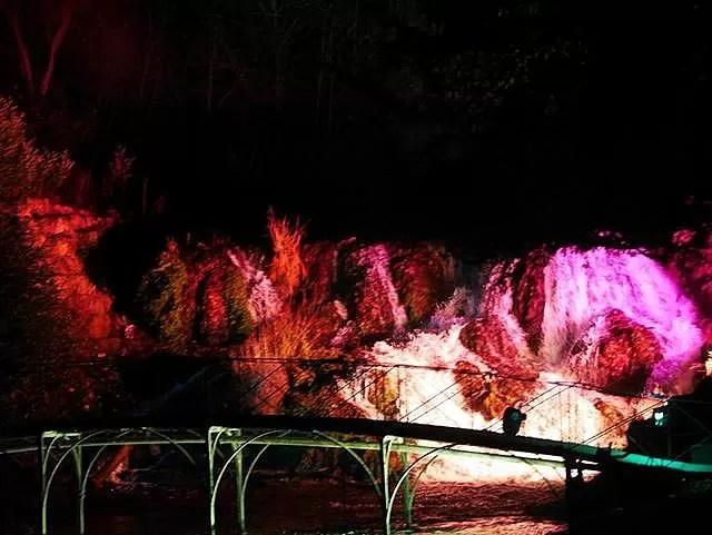 the blenheim cascades alight