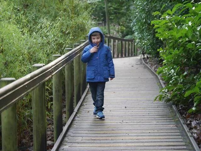 walking to the playgroun at waddesdon