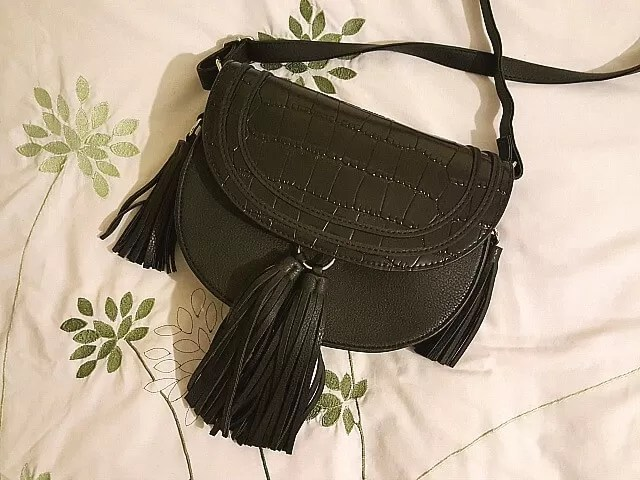 black tassle saddlebag