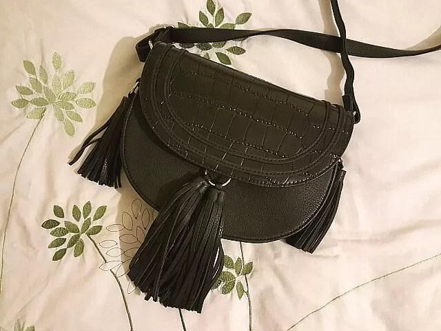 black tassle saddlebag