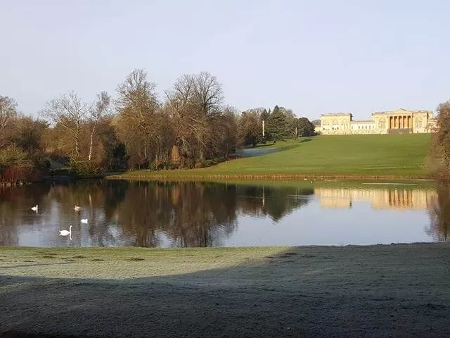 Stowe reflection in the lake