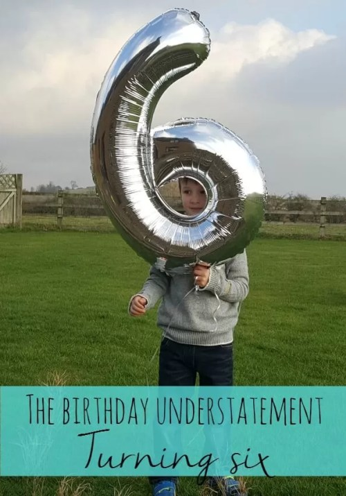 The birthday understatement of turning six years old - Bubbablue and me