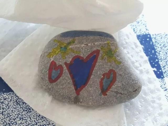 heart rock design
