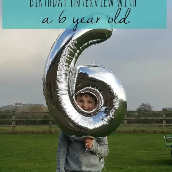 The birthday interview with a 6 year old