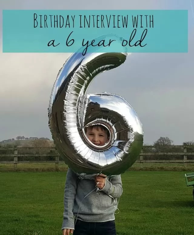 Birthday interview with a 6 year old