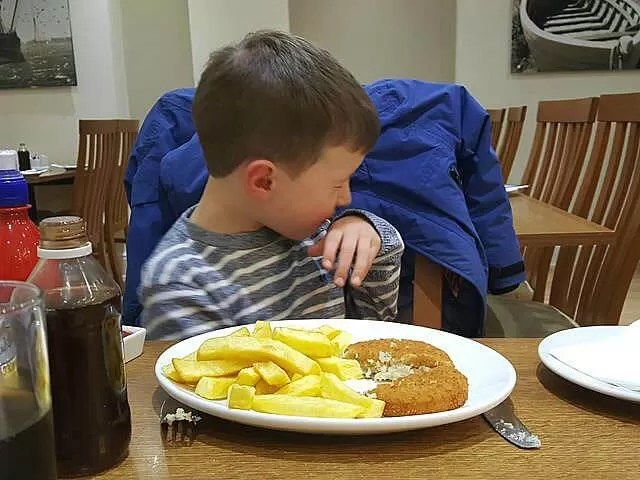 eating out at Berties fish and chips