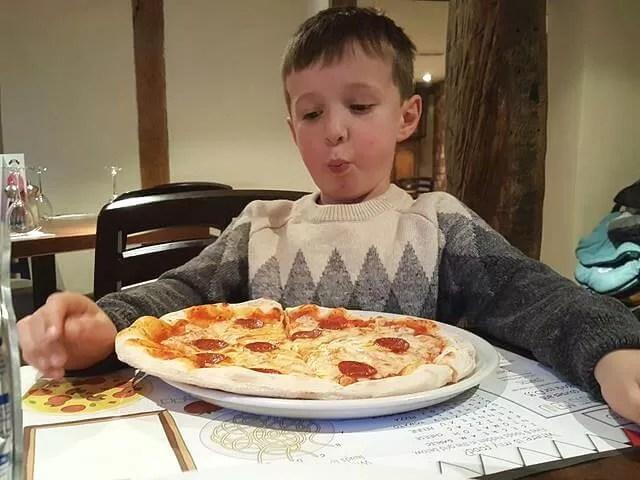 huge kids pizza at Pizza