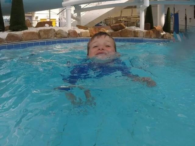 swimming alone