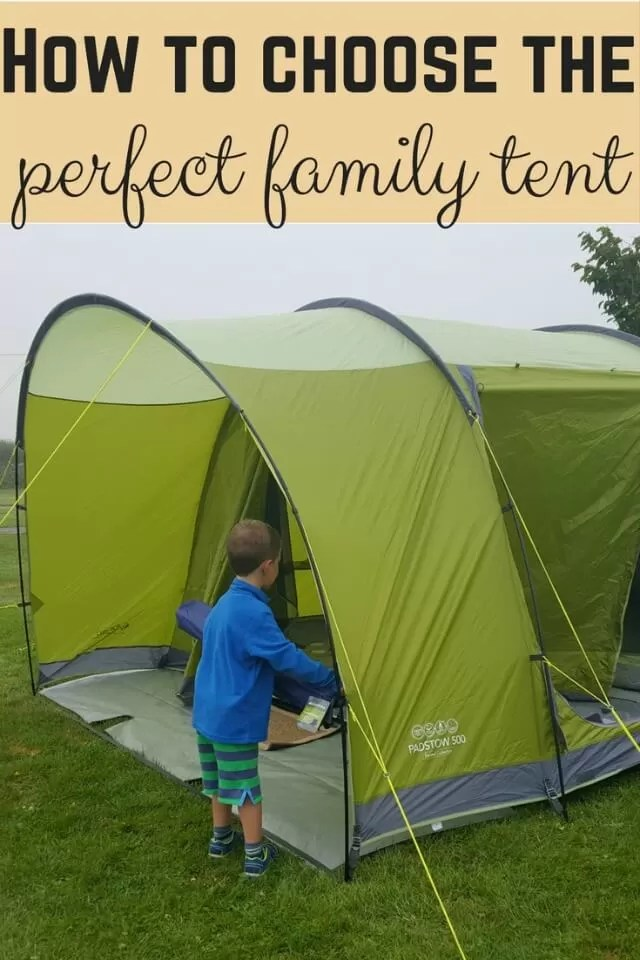 How to choose a tent for family camping - Bubbablue and me